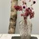 Trockenblumen in kristallkaraffe